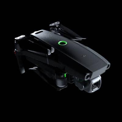 Drohne startet